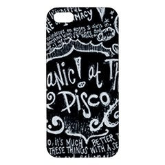 Panic ! At The Disco Lyric Quotes Apple Iphone 5 Premium Hardshell Case by Onesevenart