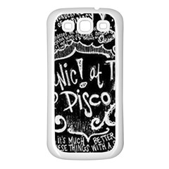 Panic ! At The Disco Lyric Quotes Samsung Galaxy S3 Back Case (white) by Onesevenart
