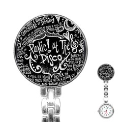 Panic ! At The Disco Lyric Quotes Stainless Steel Nurses Watch by Onesevenart