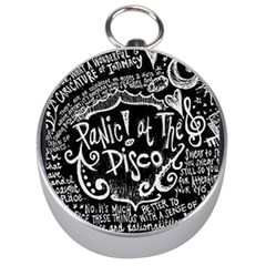Panic ! At The Disco Lyric Quotes Silver Compasses by Onesevenart