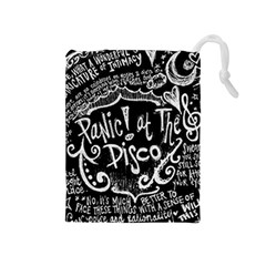 Panic ! At The Disco Lyric Quotes Drawstring Pouches (medium)  by Onesevenart