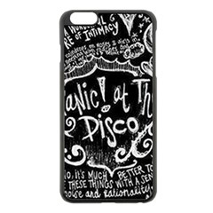 Panic ! At The Disco Lyric Quotes Apple Iphone 6 Plus/6s Plus Black Enamel Case by Onesevenart