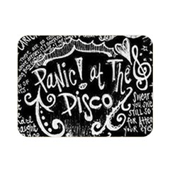 Panic ! At The Disco Lyric Quotes Double Sided Flano Blanket (mini)  by Onesevenart