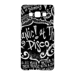 Panic ! At The Disco Lyric Quotes Samsung Galaxy A5 Hardshell Case  by Onesevenart