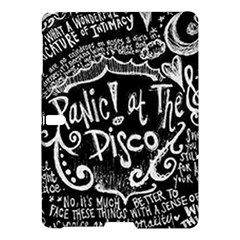 Panic ! At The Disco Lyric Quotes Samsung Galaxy Tab S (10 5 ) Hardshell Case  by Onesevenart