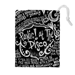 Panic ! At The Disco Lyric Quotes Drawstring Pouches (extra Large) by Onesevenart