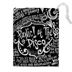Panic ! At The Disco Lyric Quotes Drawstring Pouches (xxl) by Onesevenart