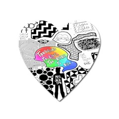 Panic ! At The Disco Heart Magnet by Onesevenart