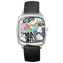 Panic ! At The Disco Square Metal Watch by Onesevenart
