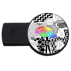Panic ! At The Disco Usb Flash Drive Round (4 Gb) by Onesevenart