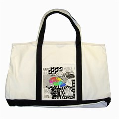 Panic ! At The Disco Two Tone Tote Bag by Onesevenart