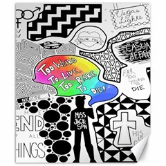 Panic ! At The Disco Canvas 8  X 10  by Onesevenart