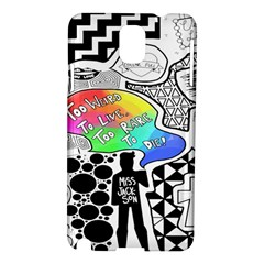Panic ! At The Disco Samsung Galaxy Note 3 N9005 Hardshell Case by Onesevenart