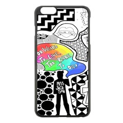 Panic ! At The Disco Apple Iphone 6 Plus/6s Plus Black Enamel Case by Onesevenart