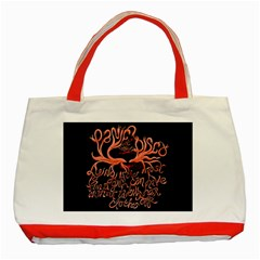 Panic At The Disco   Lying Is The Most Fun A Girl Have Without Taking Her Clothes Classic Tote Bag (red) by Onesevenart