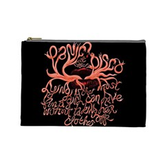 Panic At The Disco   Lying Is The Most Fun A Girl Have Without Taking Her Clothes Cosmetic Bag (large)  by Onesevenart