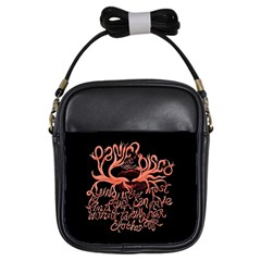 Panic At The Disco   Lying Is The Most Fun A Girl Have Without Taking Her Clothes Girls Sling Bags by Onesevenart