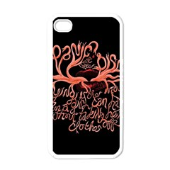 Panic At The Disco   Lying Is The Most Fun A Girl Have Without Taking Her Clothes Apple Iphone 4 Case (white) by Onesevenart