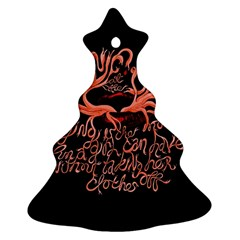 Panic At The Disco   Lying Is The Most Fun A Girl Have Without Taking Her Clothes Ornament (christmas Tree)  by Onesevenart