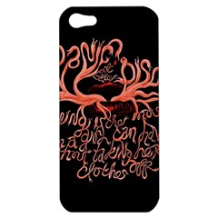 Panic At The Disco   Lying Is The Most Fun A Girl Have Without Taking Her Clothes Apple Iphone 5 Hardshell Case by Onesevenart