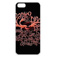 Panic At The Disco   Lying Is The Most Fun A Girl Have Without Taking Her Clothes Apple Iphone 5 Seamless Case (white) by Onesevenart