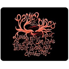 Panic At The Disco   Lying Is The Most Fun A Girl Have Without Taking Her Clothes Double Sided Fleece Blanket (medium)  by Onesevenart