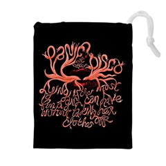 Panic At The Disco   Lying Is The Most Fun A Girl Have Without Taking Her Clothes Drawstring Pouches (extra Large) by Onesevenart