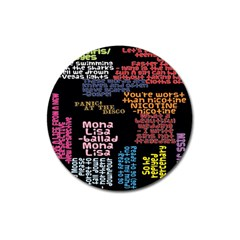 Panic At The Disco Northern Downpour Lyrics Metrolyrics Magnet 3  (round) by Onesevenart