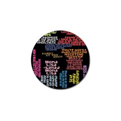 Panic At The Disco Northern Downpour Lyrics Metrolyrics Golf Ball Marker by Onesevenart