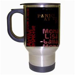 Panic At The Disco Northern Downpour Lyrics Metrolyrics Travel Mug (silver Gray) by Onesevenart
