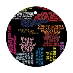 Panic At The Disco Northern Downpour Lyrics Metrolyrics Round Ornament (two Sides) by Onesevenart