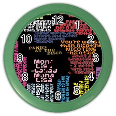 Panic At The Disco Northern Downpour Lyrics Metrolyrics Color Wall Clocks by Onesevenart