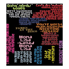 Panic At The Disco Northern Downpour Lyrics Metrolyrics Shower Curtain 66  X 72  (large)  by Onesevenart