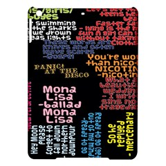 Panic At The Disco Northern Downpour Lyrics Metrolyrics Ipad Air Hardshell Cases by Onesevenart