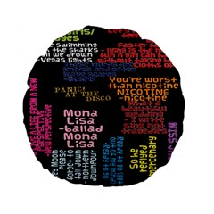Panic At The Disco Northern Downpour Lyrics Metrolyrics Standard 15  Premium Flano Round Cushions by Onesevenart