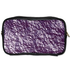 Crumpled Foil 17f Toiletries Bags 2 Side by MoreColorsinLife