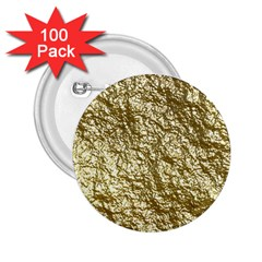 Crumpled Foil 17c 2 25  Buttons (100 Pack)  by MoreColorsinLife