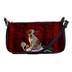 Sweet Little Chihuahua Shoulder Clutch Bags by FantasyWorld7