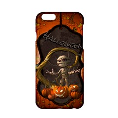 Halloween, Funny Mummy With Pumpkins Apple Iphone 6/6s Hardshell Case by FantasyWorld7