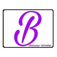 Belicious World  b  Purple Double Sided Fleece Blanket (small)  by beliciousworld