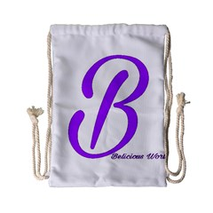Belicious World  b  Purple Drawstring Bag (small) by beliciousworld