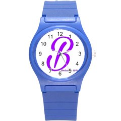 Belicious World  b  Blue Round Plastic Sport Watch (s) by beliciousworld