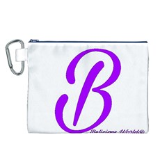 Belicious World  b  Blue Canvas Cosmetic Bag (l) by beliciousworld