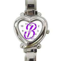 Belicious World  b  Coral Heart Italian Charm Watch by beliciousworld
