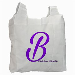 Belicious World  b  Coral Recycle Bag (one Side) by beliciousworld