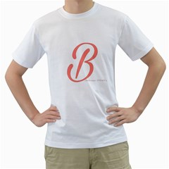 Belicious World  b  In Coral Men s T Shirt (white) (two Sided) by beliciousworld