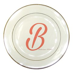 Belicious World  b  In Coral Porcelain Plates by beliciousworld