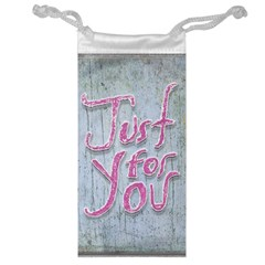 Letters Quotes Grunge Style Design Jewelry Bag by dflcprints