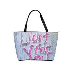 Letters Quotes Grunge Style Design Shoulder Handbags by dflcprints