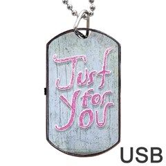 Letters Quotes Grunge Style Design Dog Tag Usb Flash (two Sides) by dflcprints